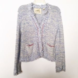 Anthro Angel of the North Eliot Blue Cardigan